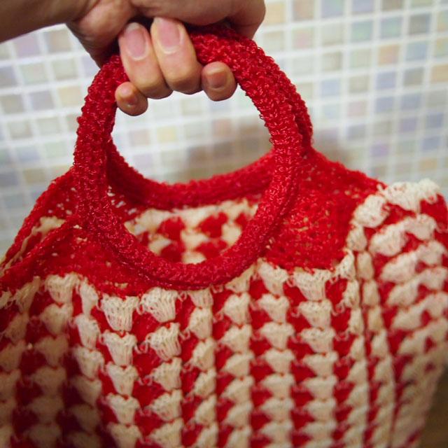 ビニールひも編みバッグ(プラカゴ)