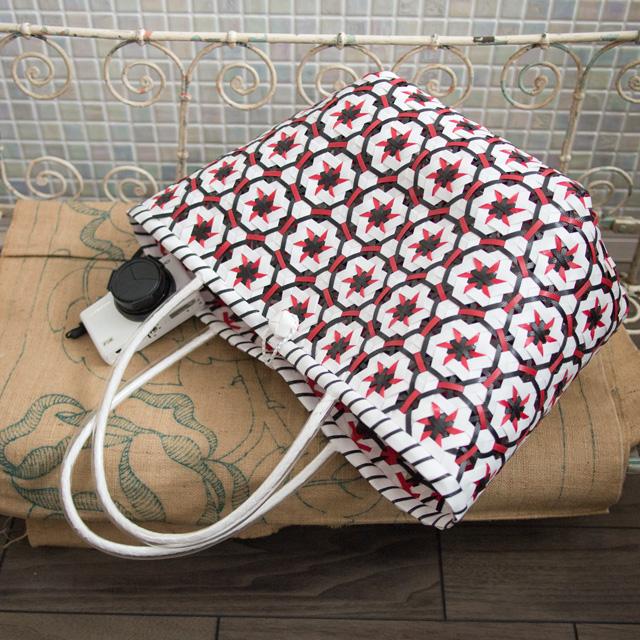 花まる編みエコバッグ(プラカゴ)